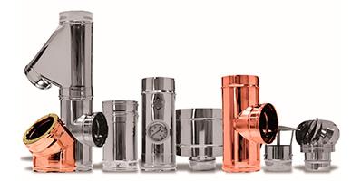 Produzione vendita canne fumarie acciaio inox rame ferro - Canne fumarie stufe a pellet ...