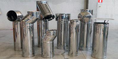 Canne fumarie in acciaio per stufe a legna boiserie in - Tubi per stufe a legna prezzi ...