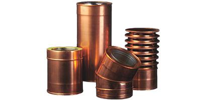 Produzione vendita canne fumarie acciaio inox rame ferro - Tubi stufa a legna ...